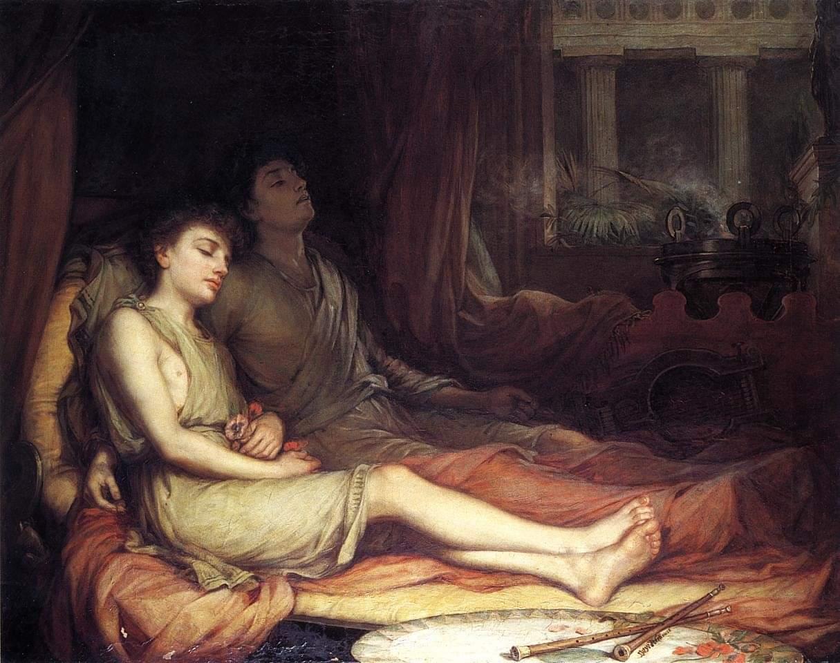 صورة النوم و توأمه الموت