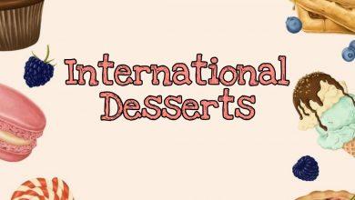 صورة حلويات عالمية